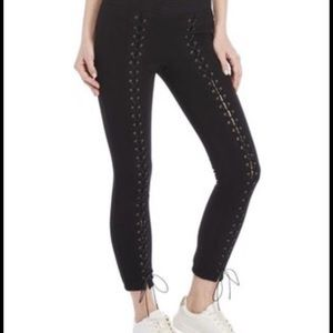 Pam & Gela Black lace-up sweatpants